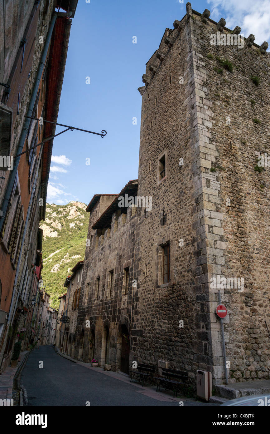Villefranche De Lauragais: Medieval Town Villefranche-de-Conflent In French Pyrenees