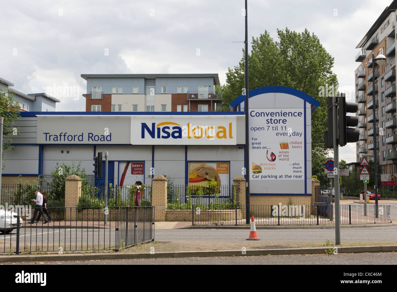 NisaLocal convenience store on Trafford Road Salford. Nisa stores are independently owned but operate as a consortium. Stock Photo