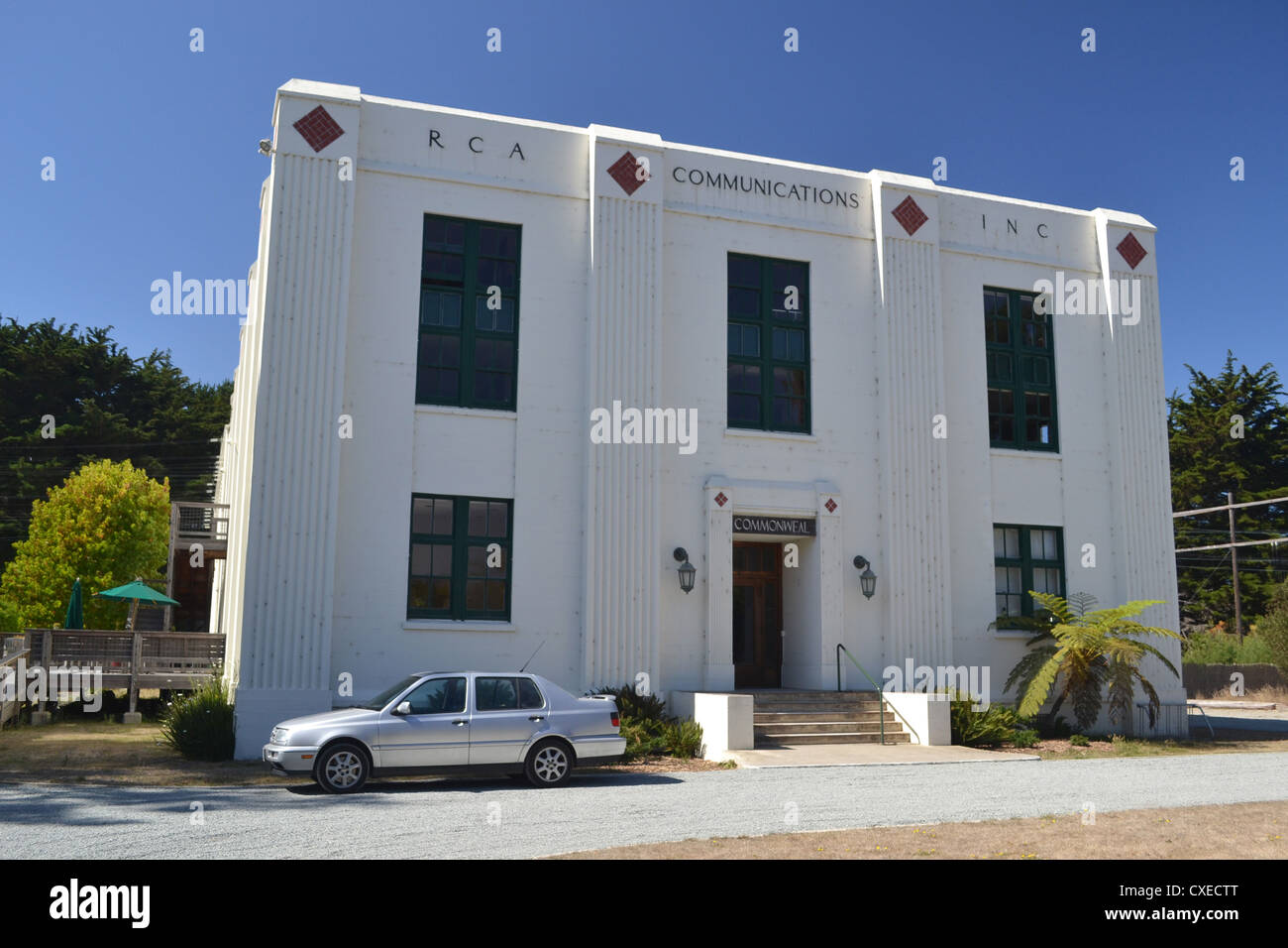 RCA KPH Radio Building at Point Reyes, California Stock Photo