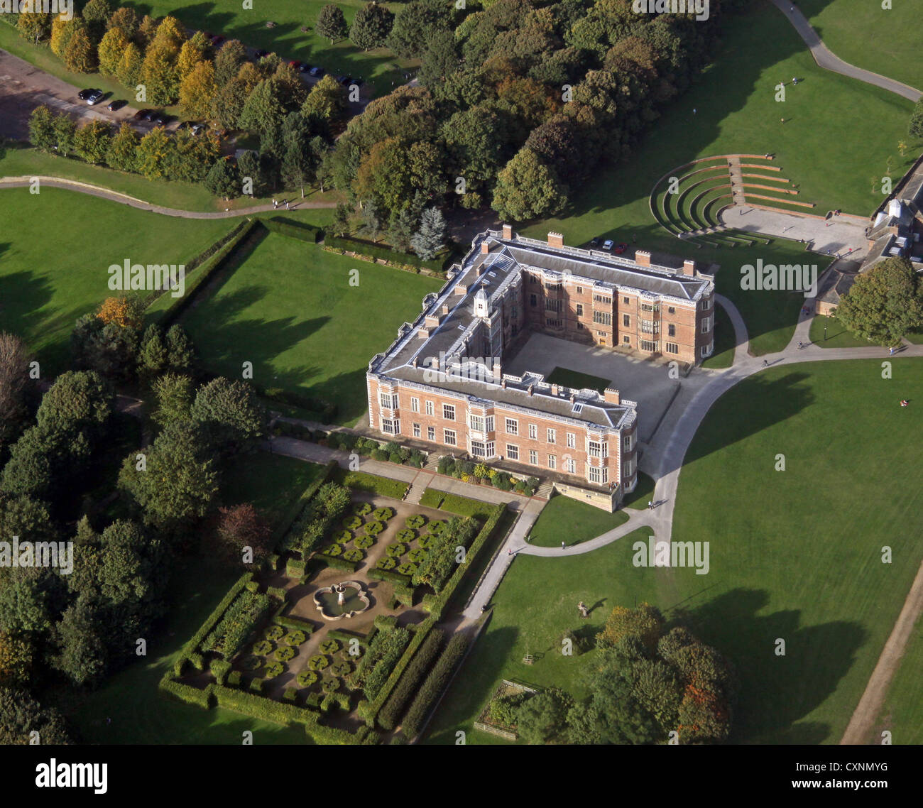 Aerial view of temple newsham house and grounds leeds for See images of my house