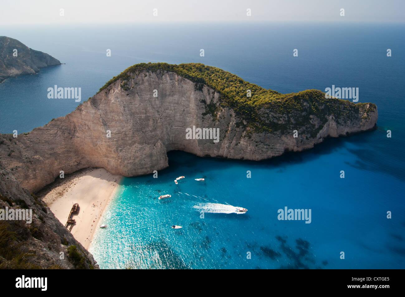 Navagio beach on zakynthos island