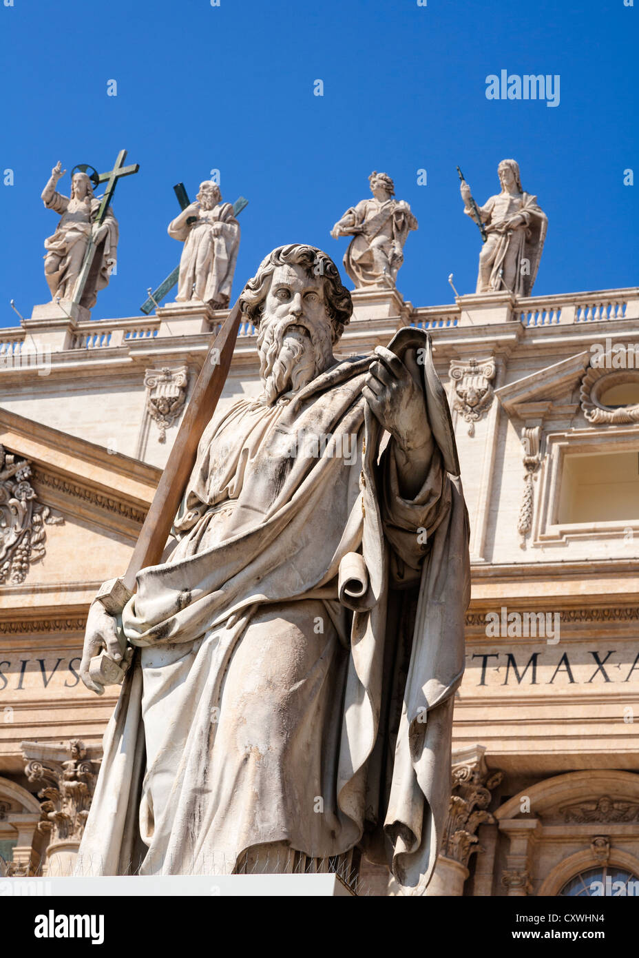 Statue Of Saint Paul Outside, Saint Peter's Basilica