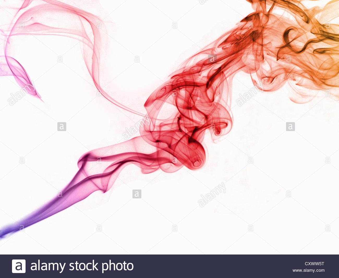 Pattern of smoke turbulence Stock Foto