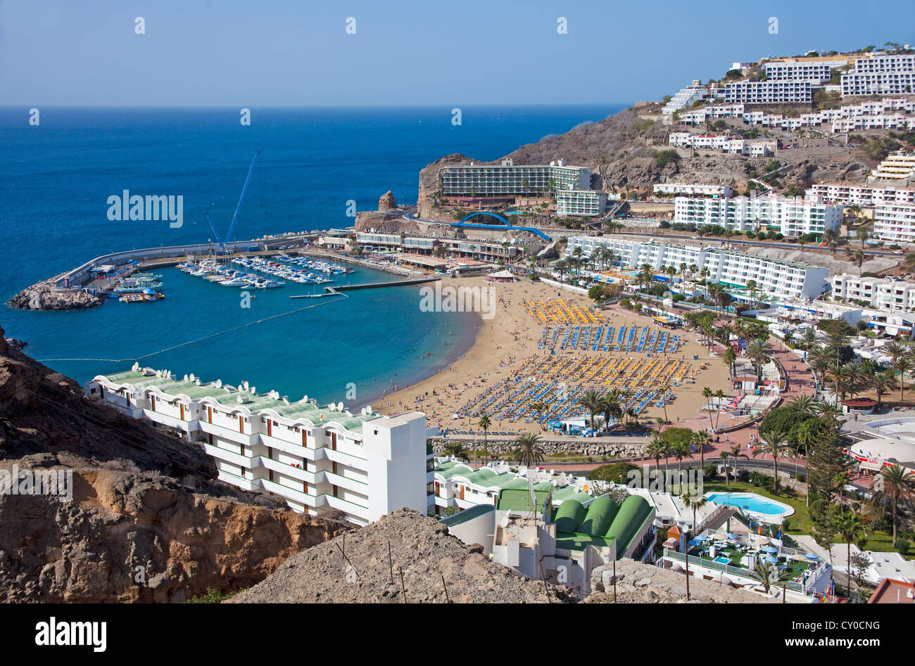 beach and marina puerto rico gran canaria canary