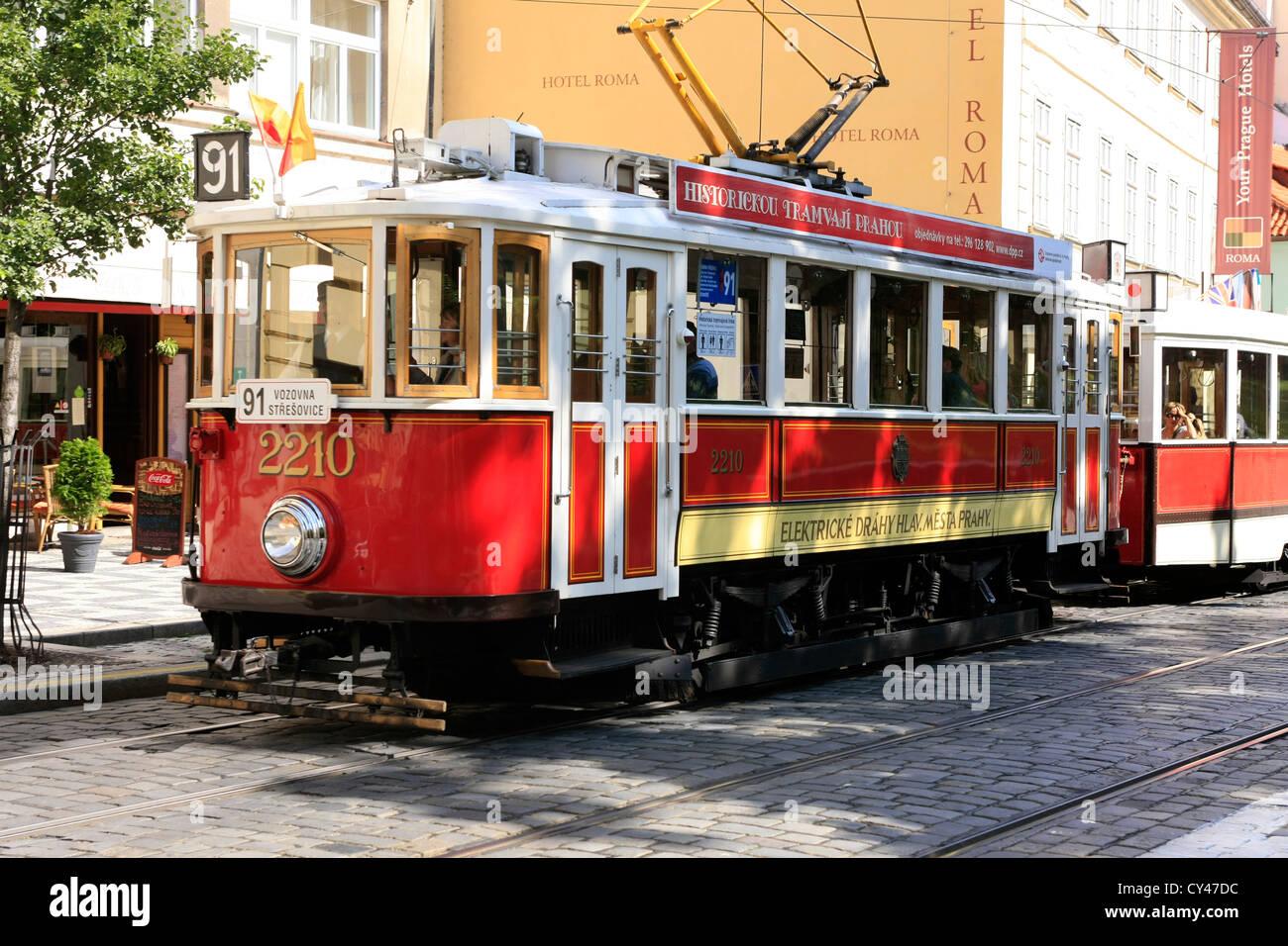 old tram prague street - photo #11