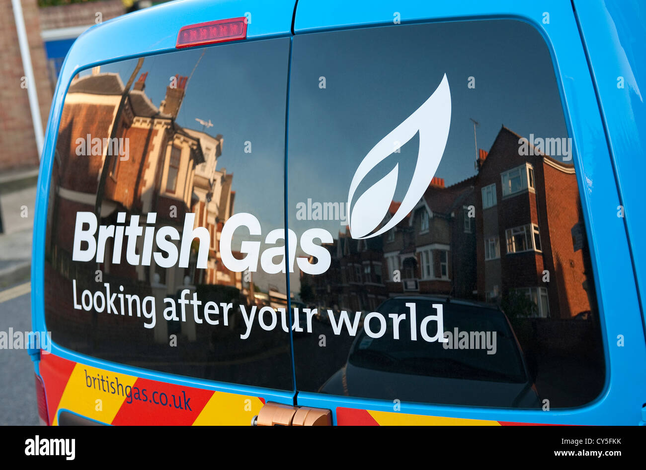 british gas service van parked on street, broadstairs, kent, england Stock Photo
