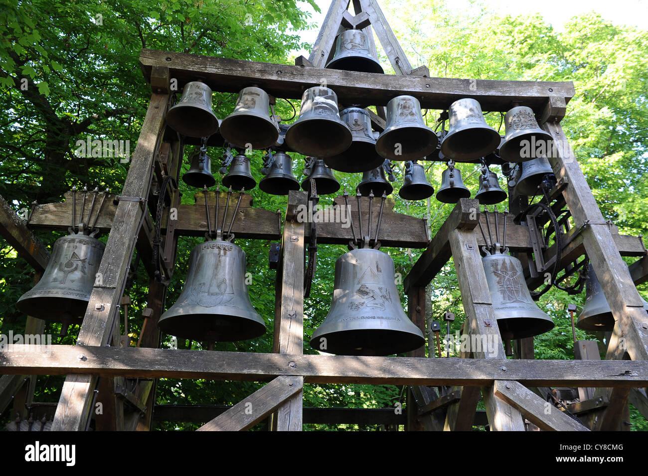 Honfleur Normandy France the bells of Notre Dame de Grace Chapel Stock Photo