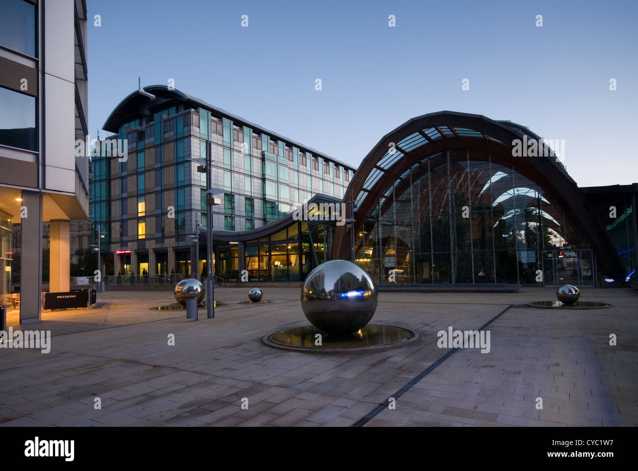 Sheffield City Centre Winter Garden And St Pauls Area Stock Photo Royalty Free Image