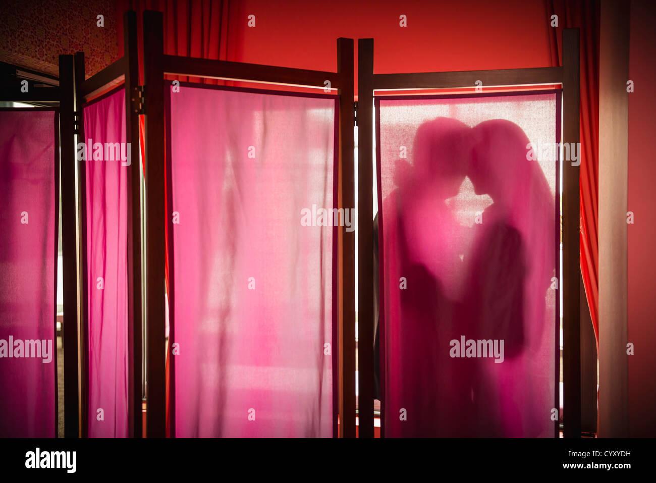 Germany, Stuttgart, Business couple in romance Stock Foto