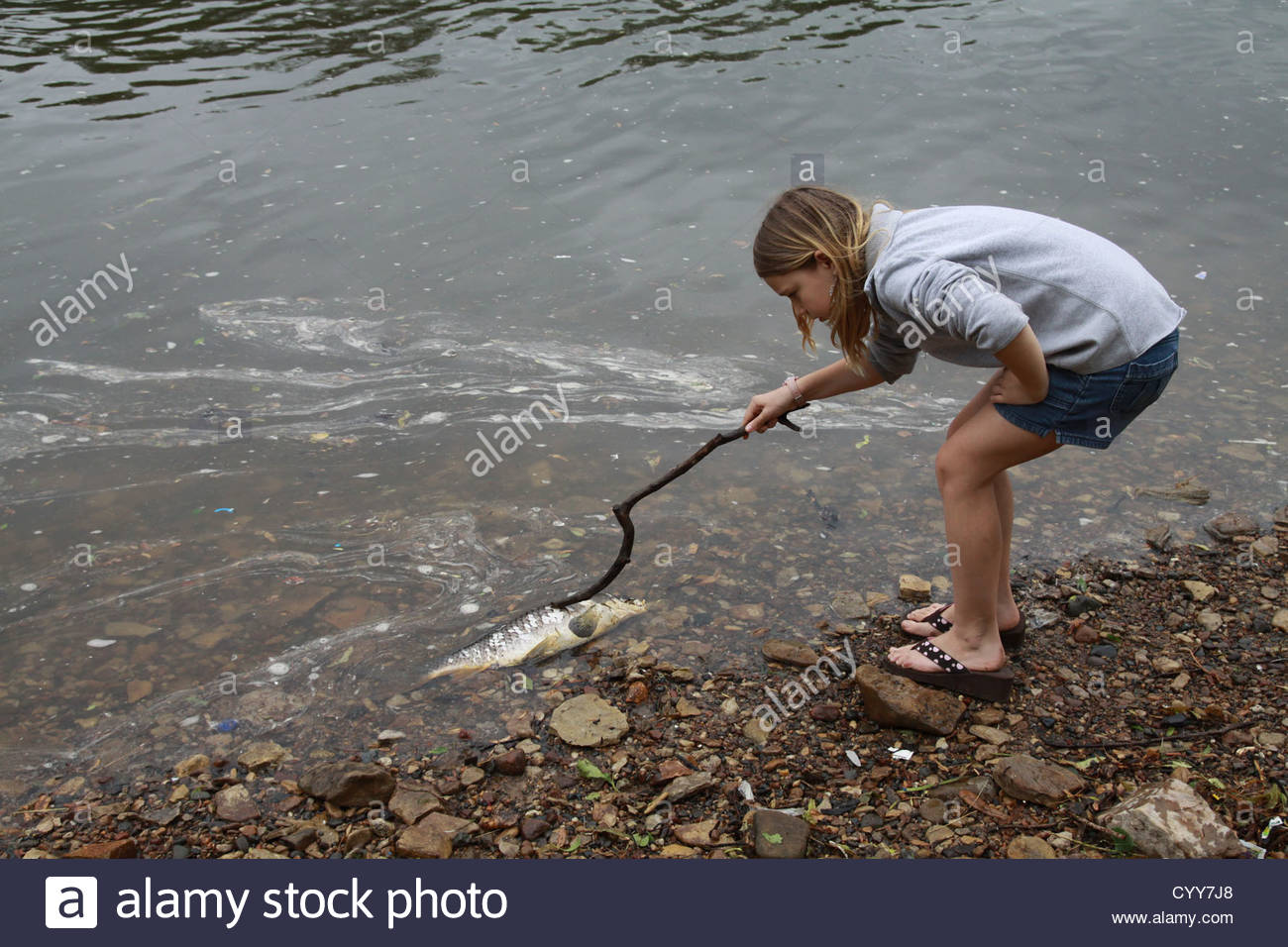 a-girl-poking-a-dead-fish-with-a-stick-C