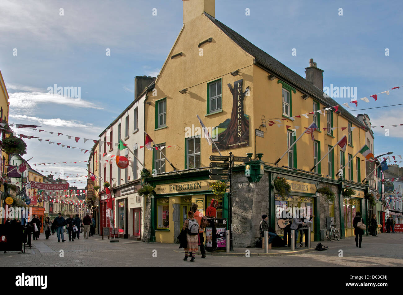 Evergreen pub galway county galway ireland stock photo for Evergreen shop