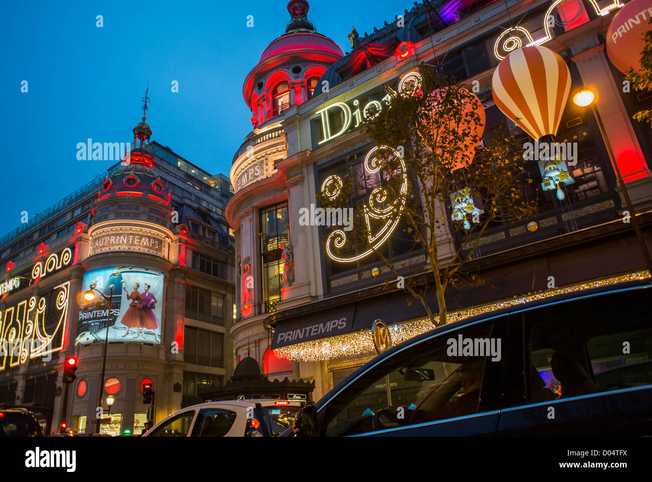 Paris france french department store printemps with for Exclusive christmas decorations