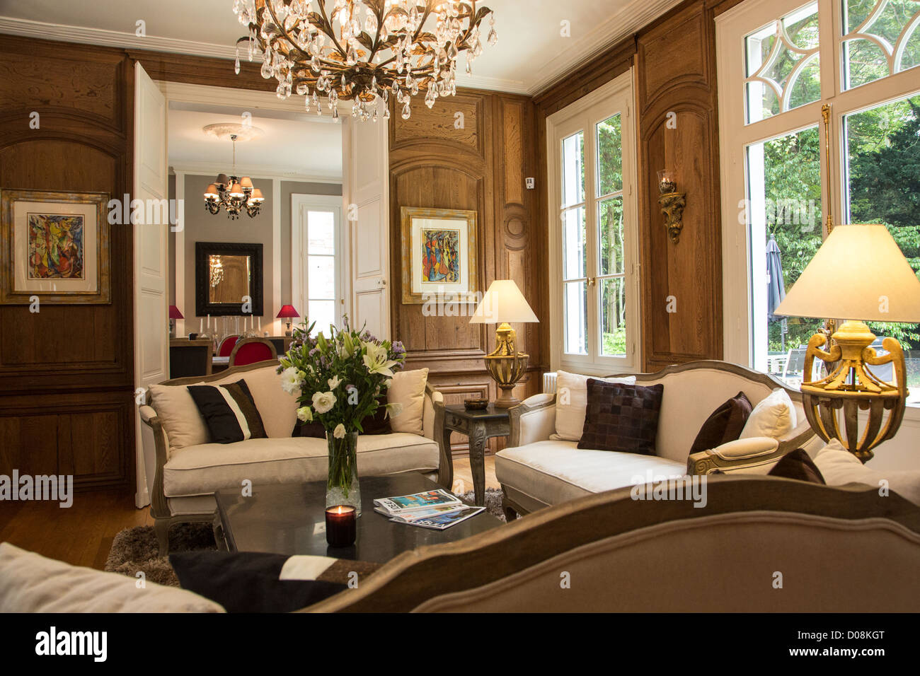 the lounge at the maison paradis bed breakfast chartres eure et loir stock photo royalty free. Black Bedroom Furniture Sets. Home Design Ideas