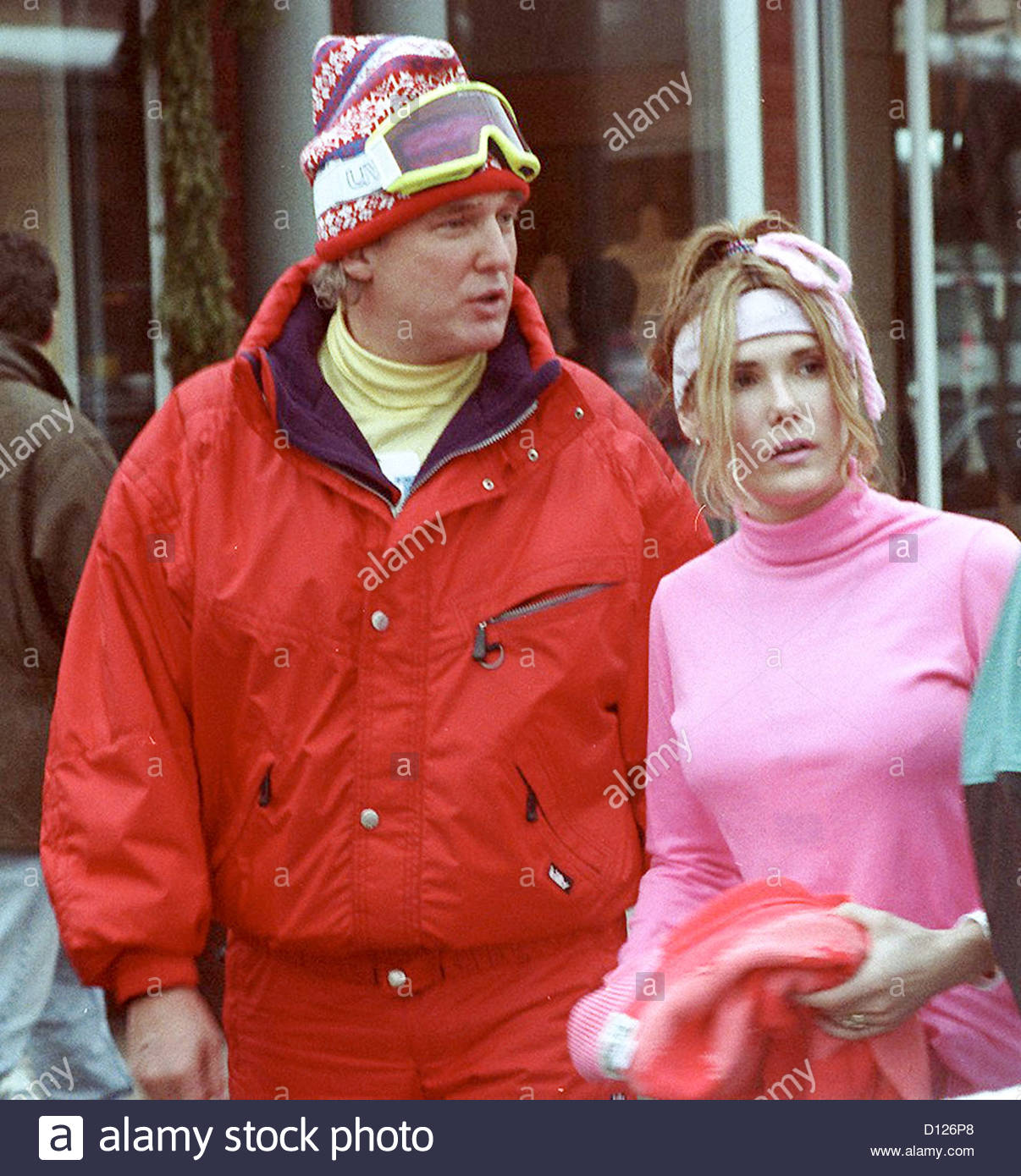 Donald Trump With Friend Kelly Skiing - Aspen Colorado USA 1990s Stock ...