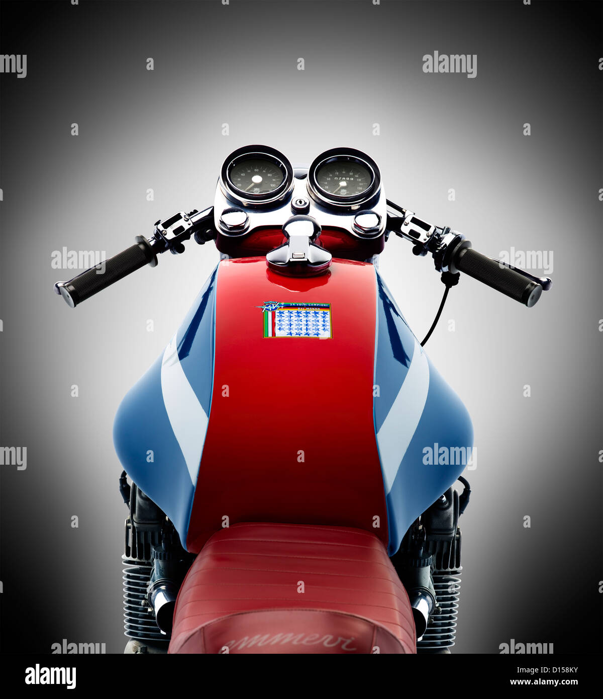 MV Agusta motorcycle isolated over white background Stock Foto