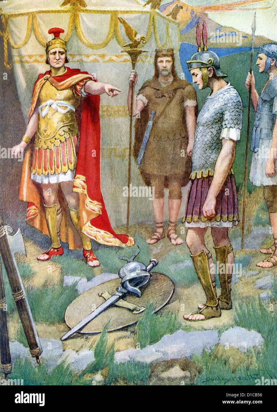 Ancient latins illustration kleine ist