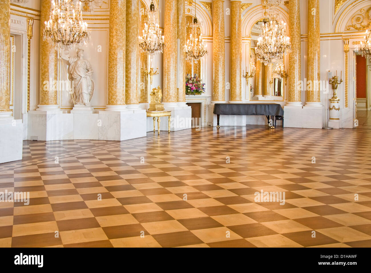 Ball Room In Royal Castle In Warsaw World Heritage List
