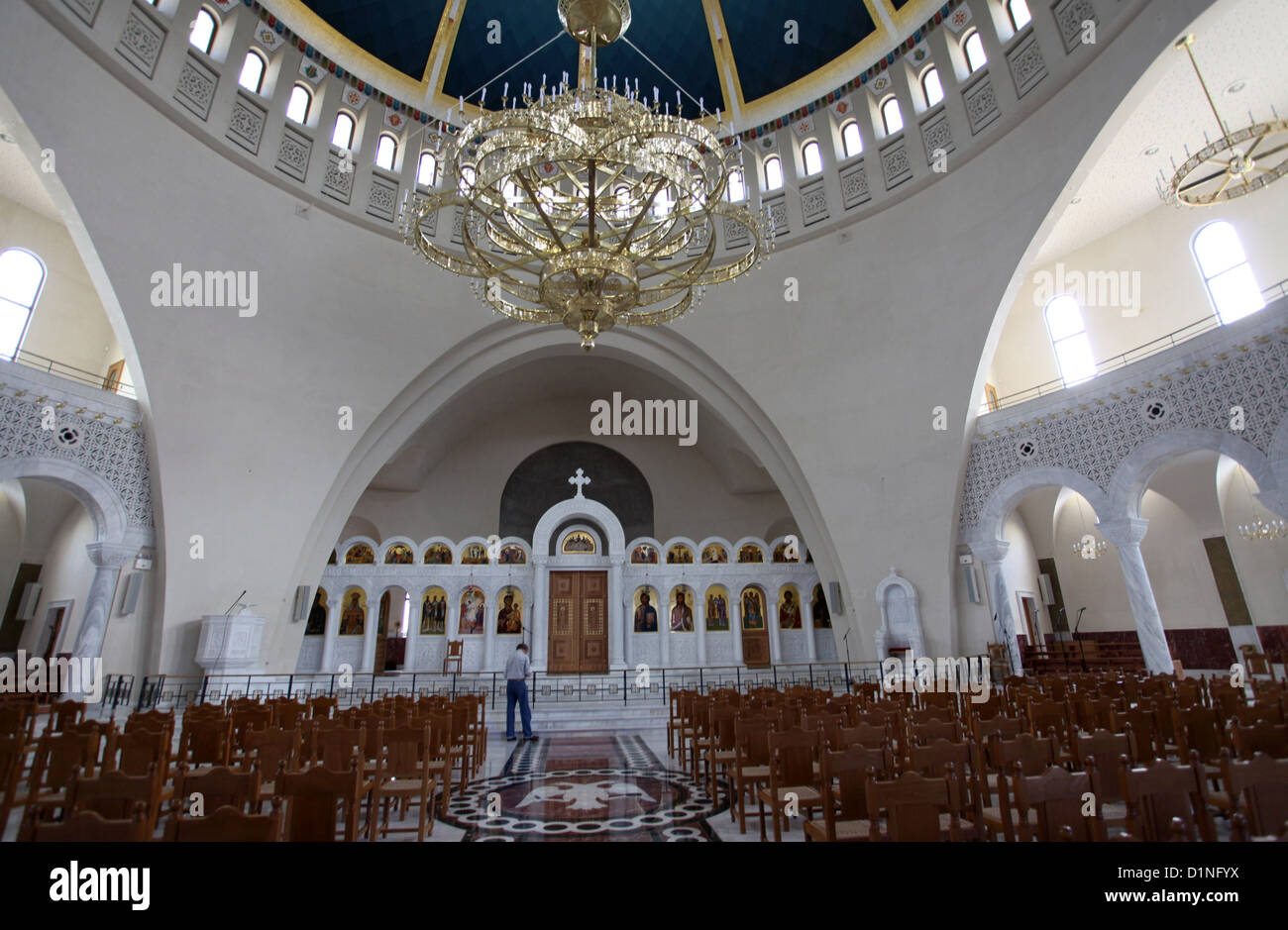 Interior Of The New Orthodox Cathedral Of The Resurrection