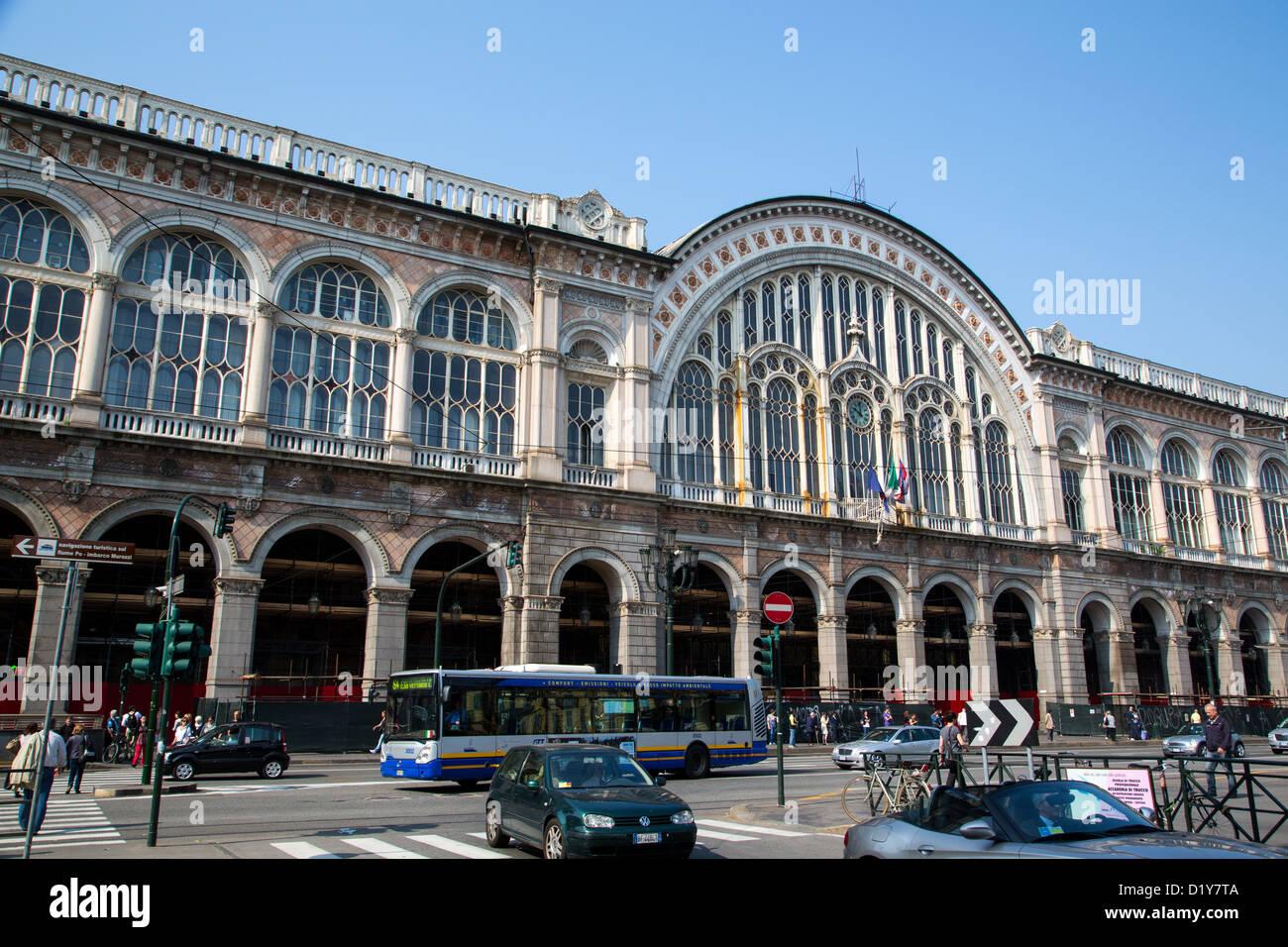 The porta nuova railway station in turin italy stock photo - Turin porta nuova ...