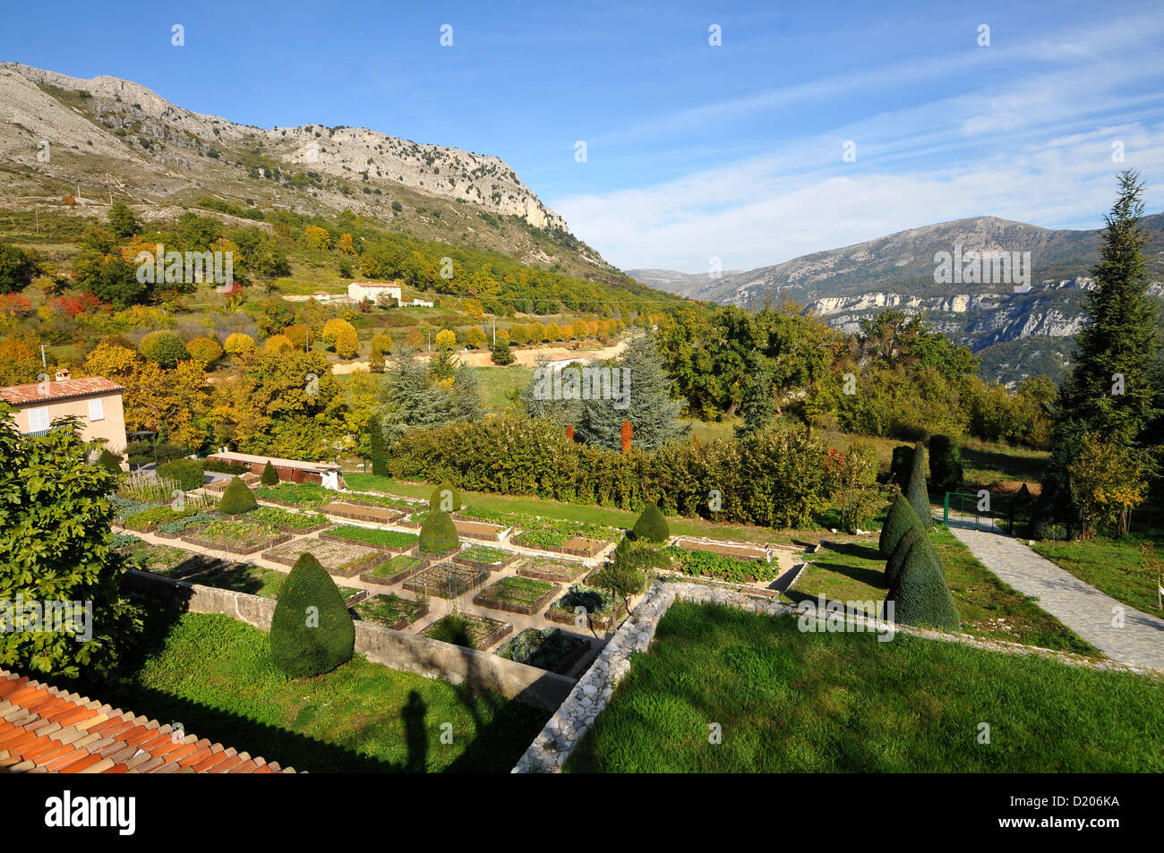 view over idyllic landscape at gorges du loup cote d 39 azur south stock photo royalty free. Black Bedroom Furniture Sets. Home Design Ideas