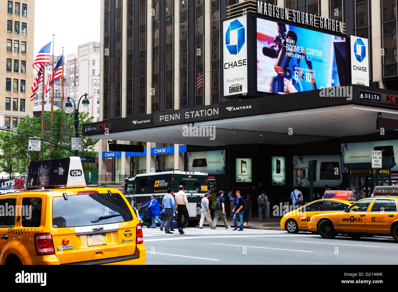 Outside Exterior Of Penn Station Madison Square Garden New York Stock Photo Royalty Free