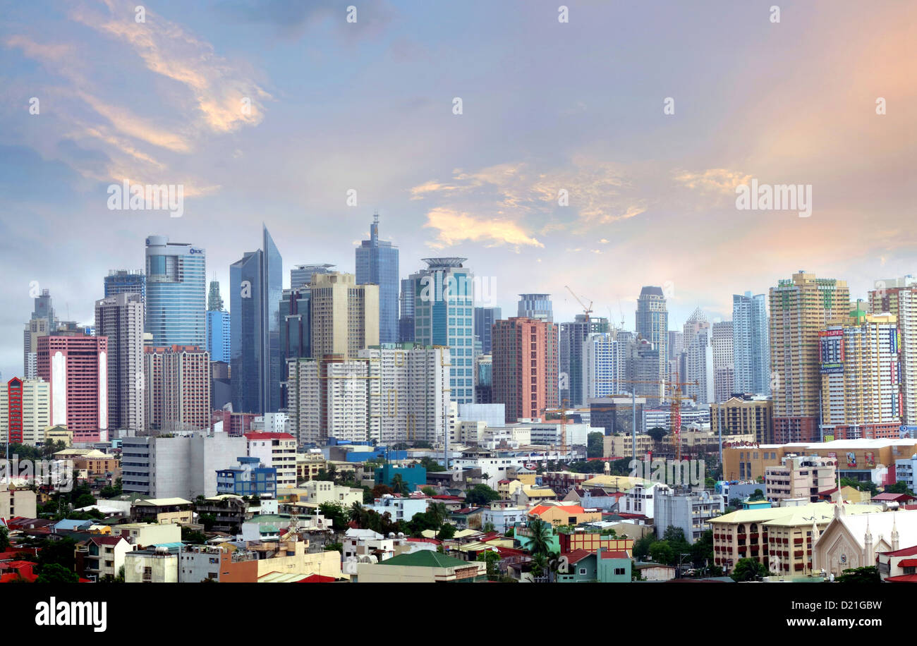 Skyline Of Makati City Manila Philippines Asia Stock Photo Royalty Free Image 52895245 Alamy