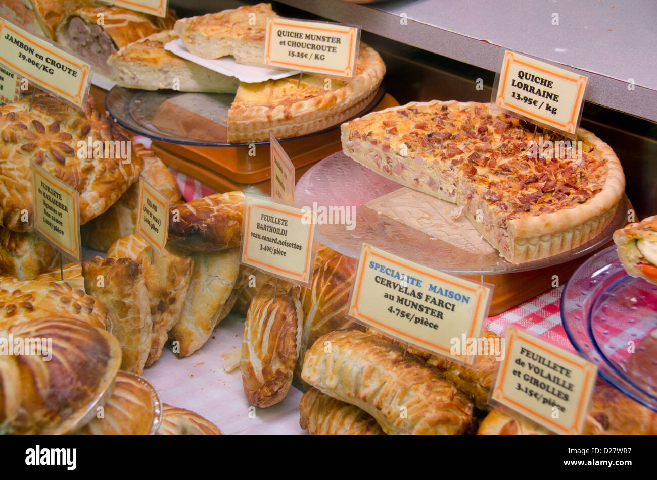 France alsace colmar bakery shop window with for Colmar cuisine creation