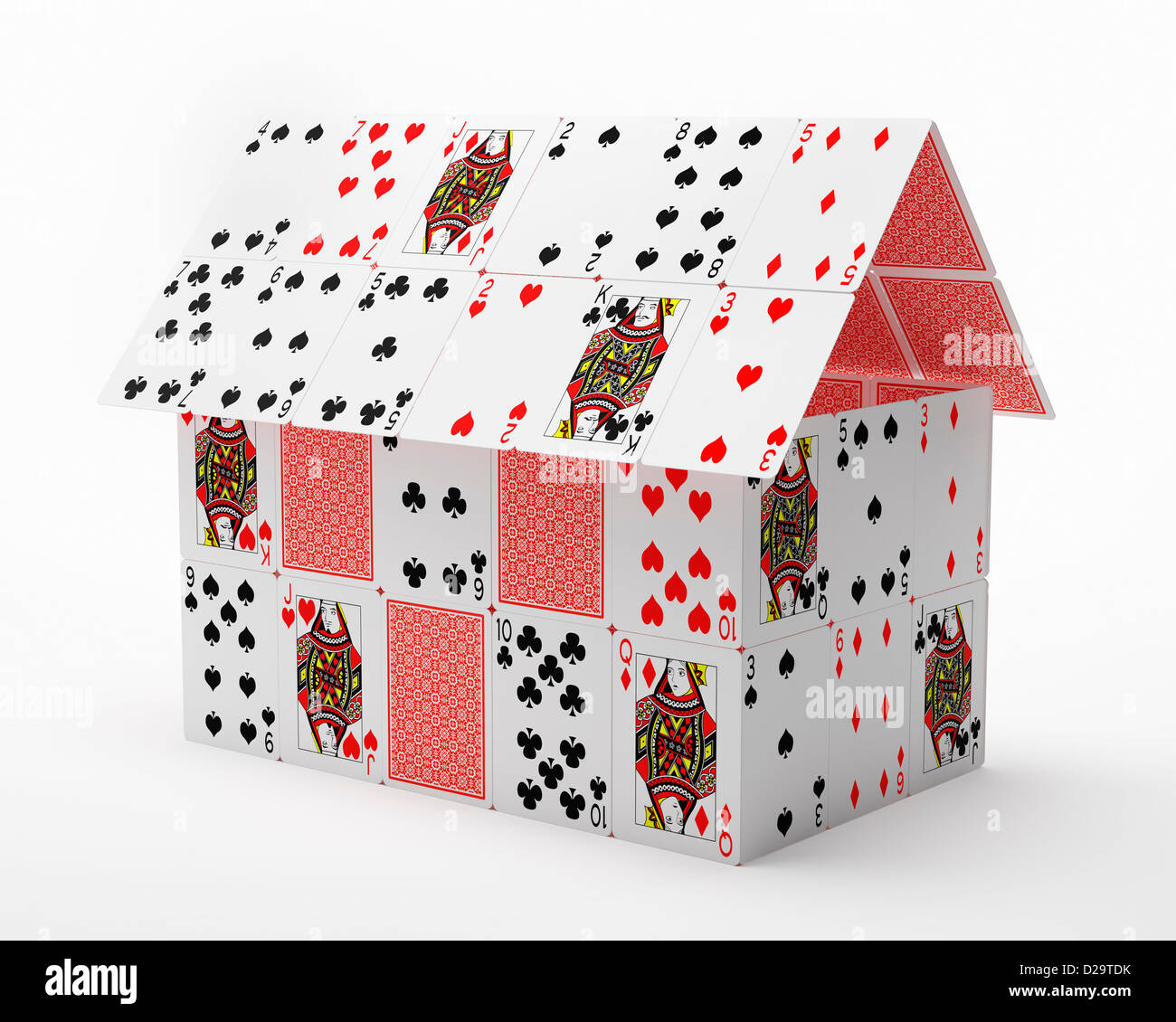 House made of playing cards Stock Photo, Royalty Free ... House Of Playing Cards