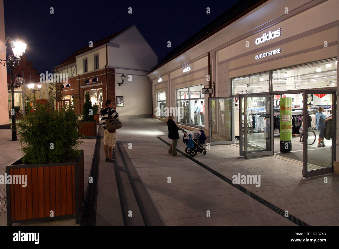 wustermark germany adidas outlet store in b5 designer outlet center stock photo royalty free. Black Bedroom Furniture Sets. Home Design Ideas