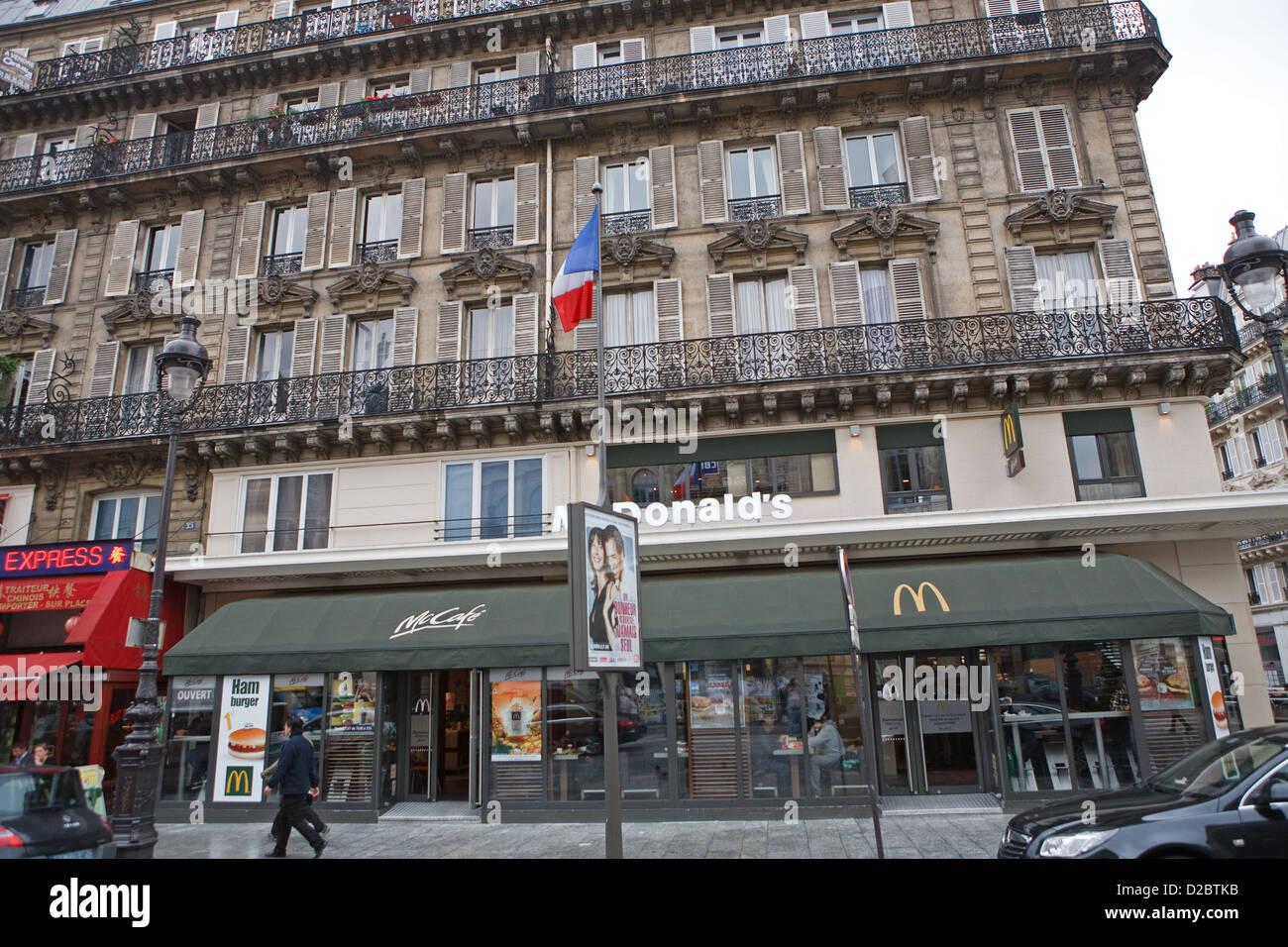 McDonalds opposite Gare Du Nord in Paris France Stock Photo