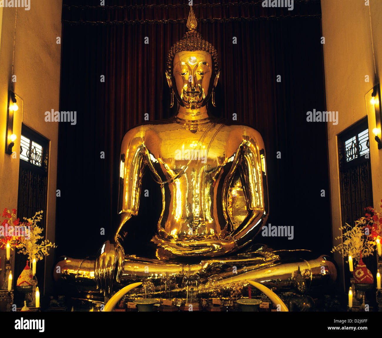 Thailand, Bangkok, Wat Traimit, 5.5 Tons Golden Buddha Made Of Solid Stock Ph...