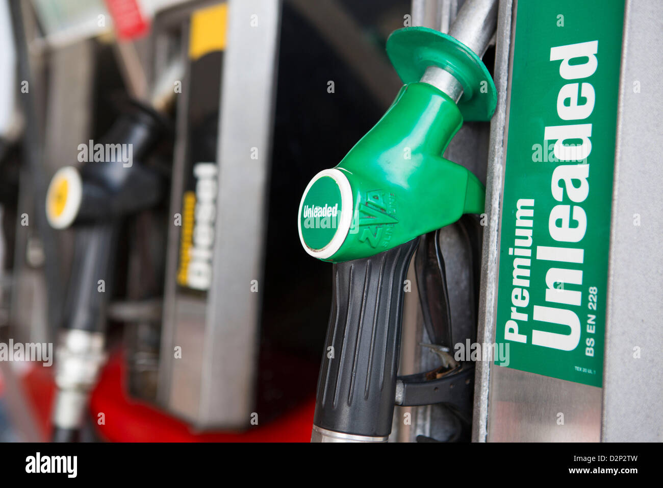 a close up view of a unleaded petrol pump stock photo royalty free image 53345625 alamy. Black Bedroom Furniture Sets. Home Design Ideas