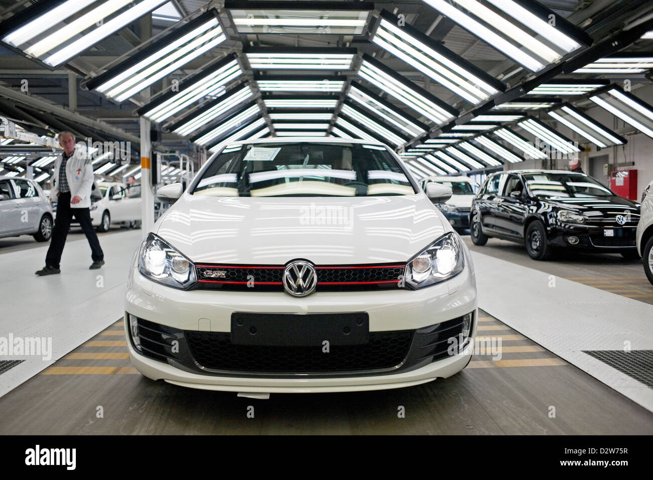 wolfsburg germany volkswagen factory production of the golf 6 and stock photo royalty free. Black Bedroom Furniture Sets. Home Design Ideas