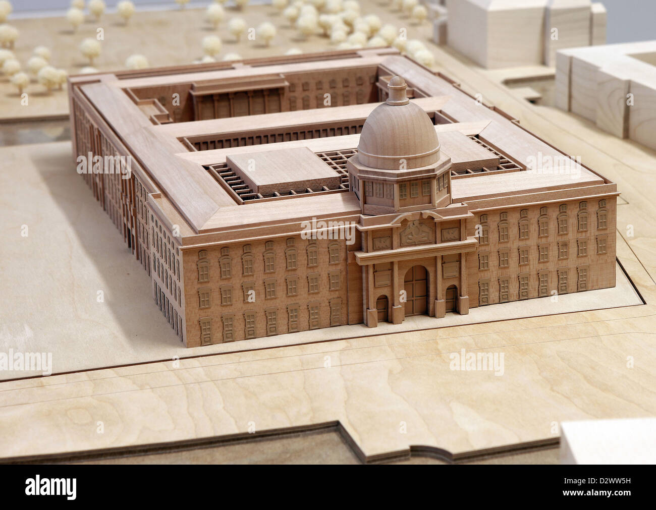 Berlin germany model of the berlin city palace stock - Mobeltown berlin ...