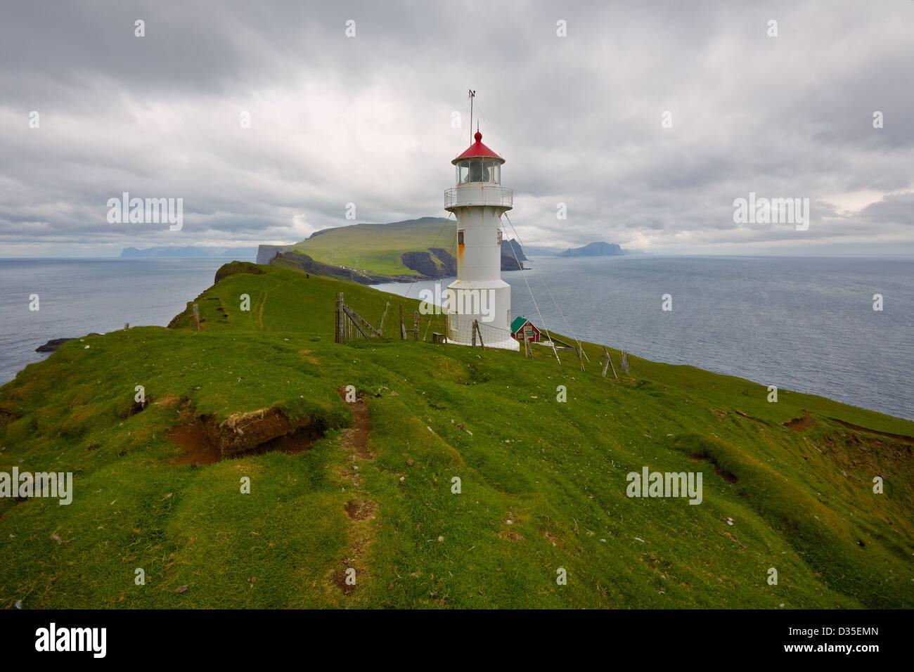 Mykines Holmur Lighthouse, Mykines Island, Faroe Islands ...