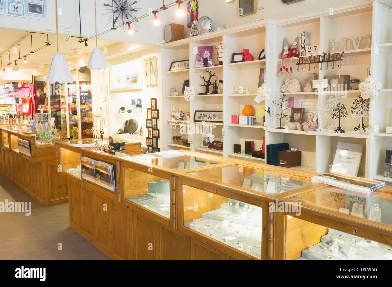 Interior Of A Modern Gift Shop In Kirkwall Orkney Islands