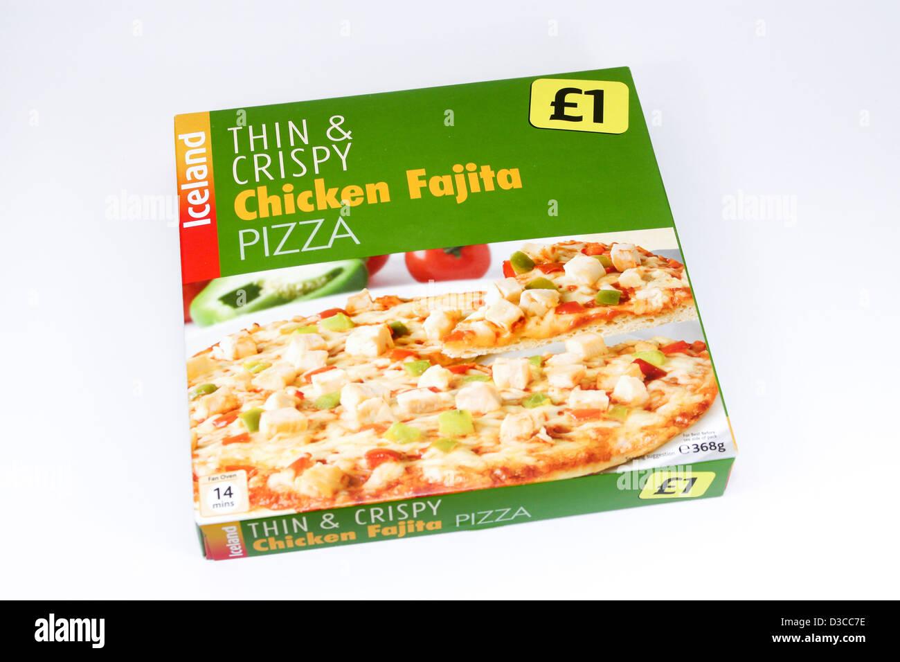 Iceland frozen foods chicken fajita pizza Stock Photo, Royalty Free ...