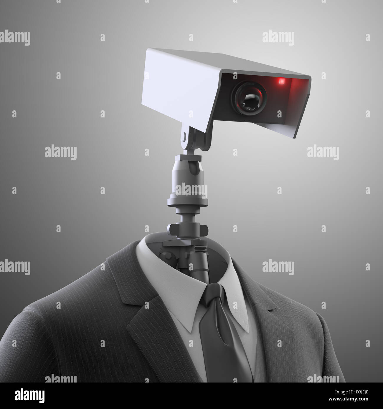 A robotic security camera - automated surveillance Stock Foto