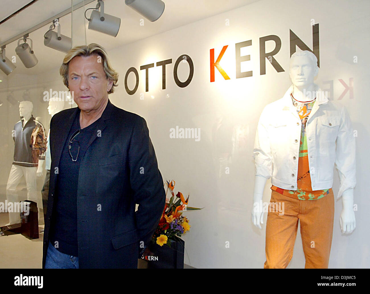 dpa fashion entrepreneur otto kern pictured at his new store in stock photo royalty free. Black Bedroom Furniture Sets. Home Design Ideas