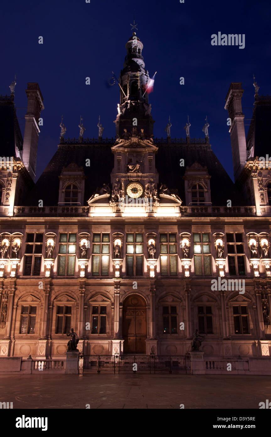 The Ornate H Tel De Ville Historic City Hall Of Paris
