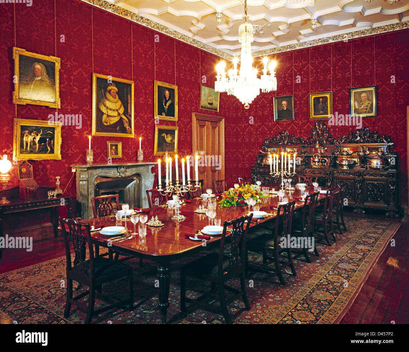 The dining room of the stately home of Muckross House  : the dining room of the stately home of muckross house killarney county D457P2 from www.alamy.com size 1300 x 1120 jpeg 343kB