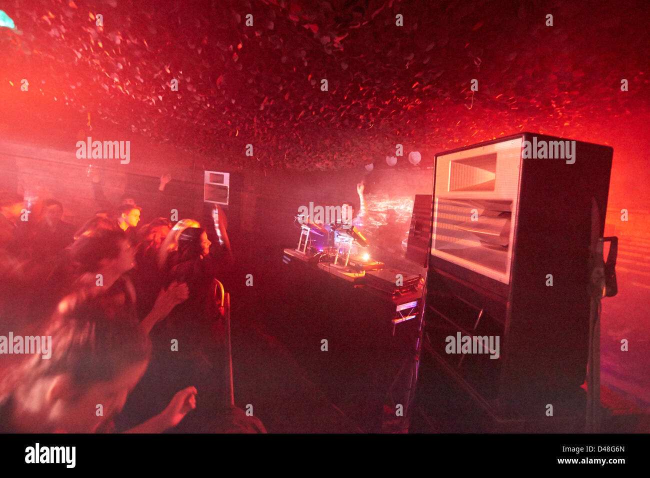 Nightclub rave warehouse party club acid house stock photo for Acid house party