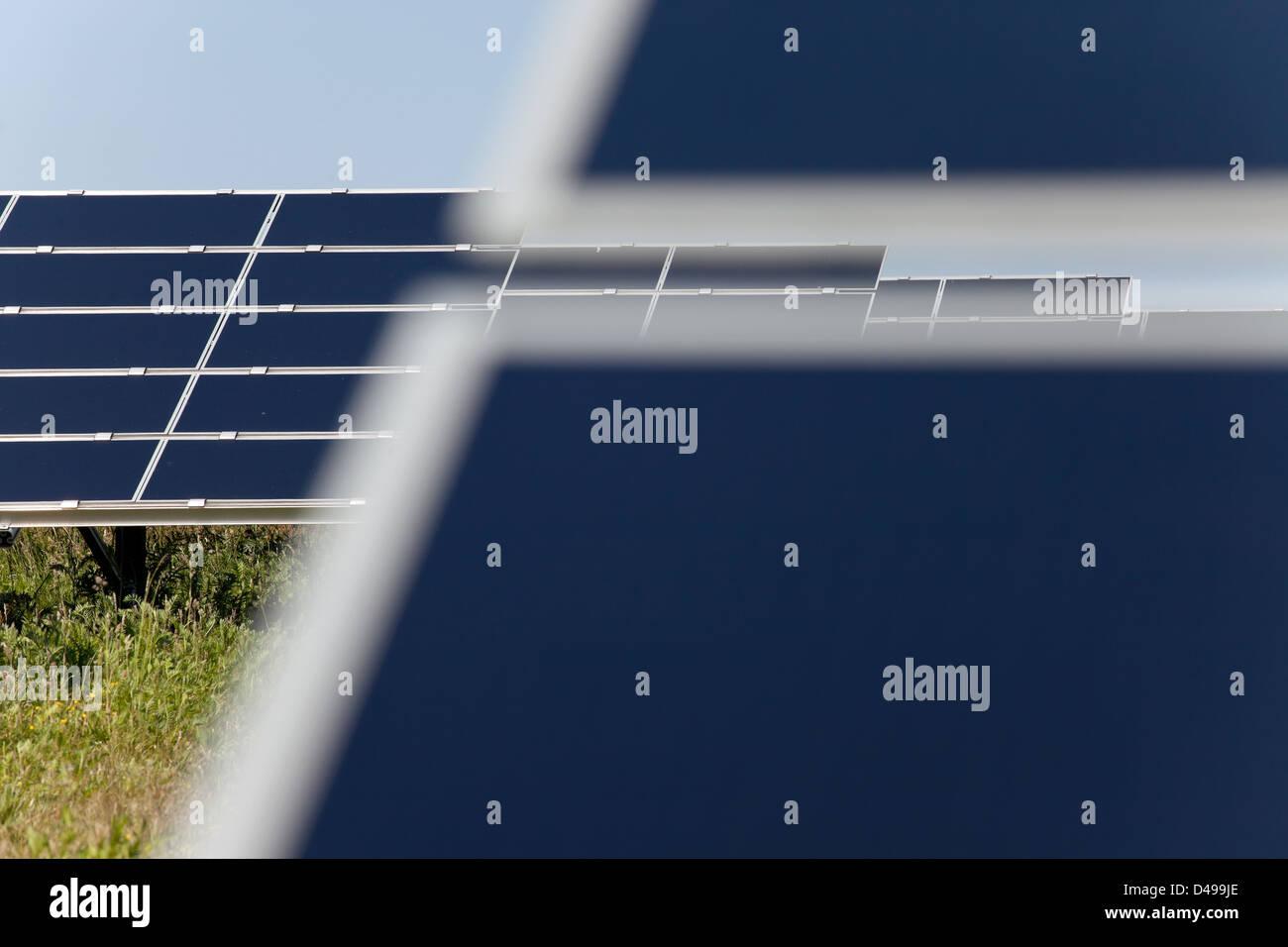 Brandis Germany Solar Power Plant Waldpolenz Stock Photo