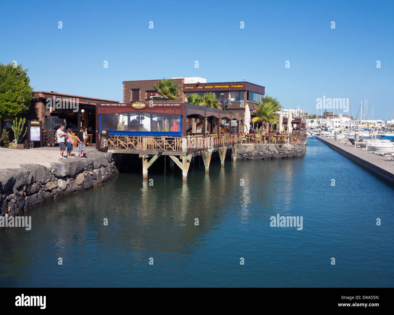 Lanis Snackbar And Restaurant Marina Rubicon, Playa Blanca Stock Photo, ...