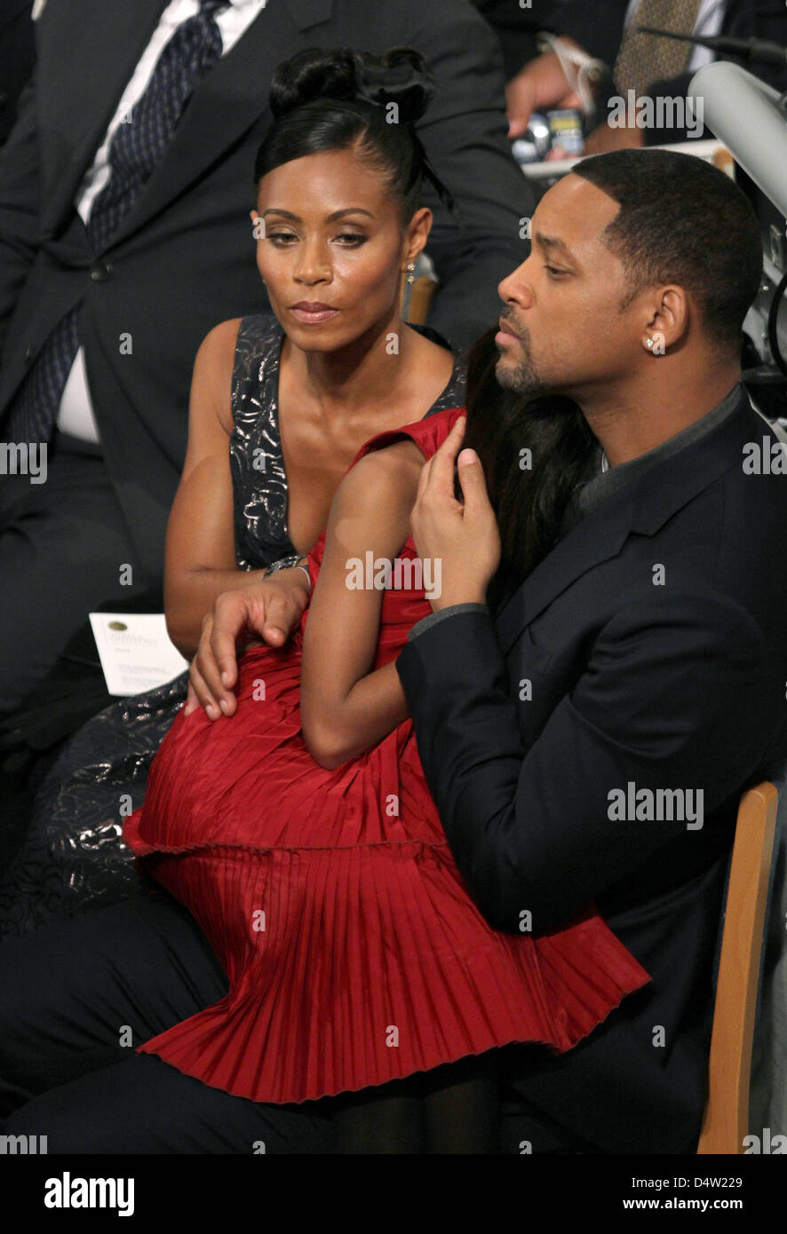 US actor Will Smith, his wife Jada Pinkett Smith and their ...