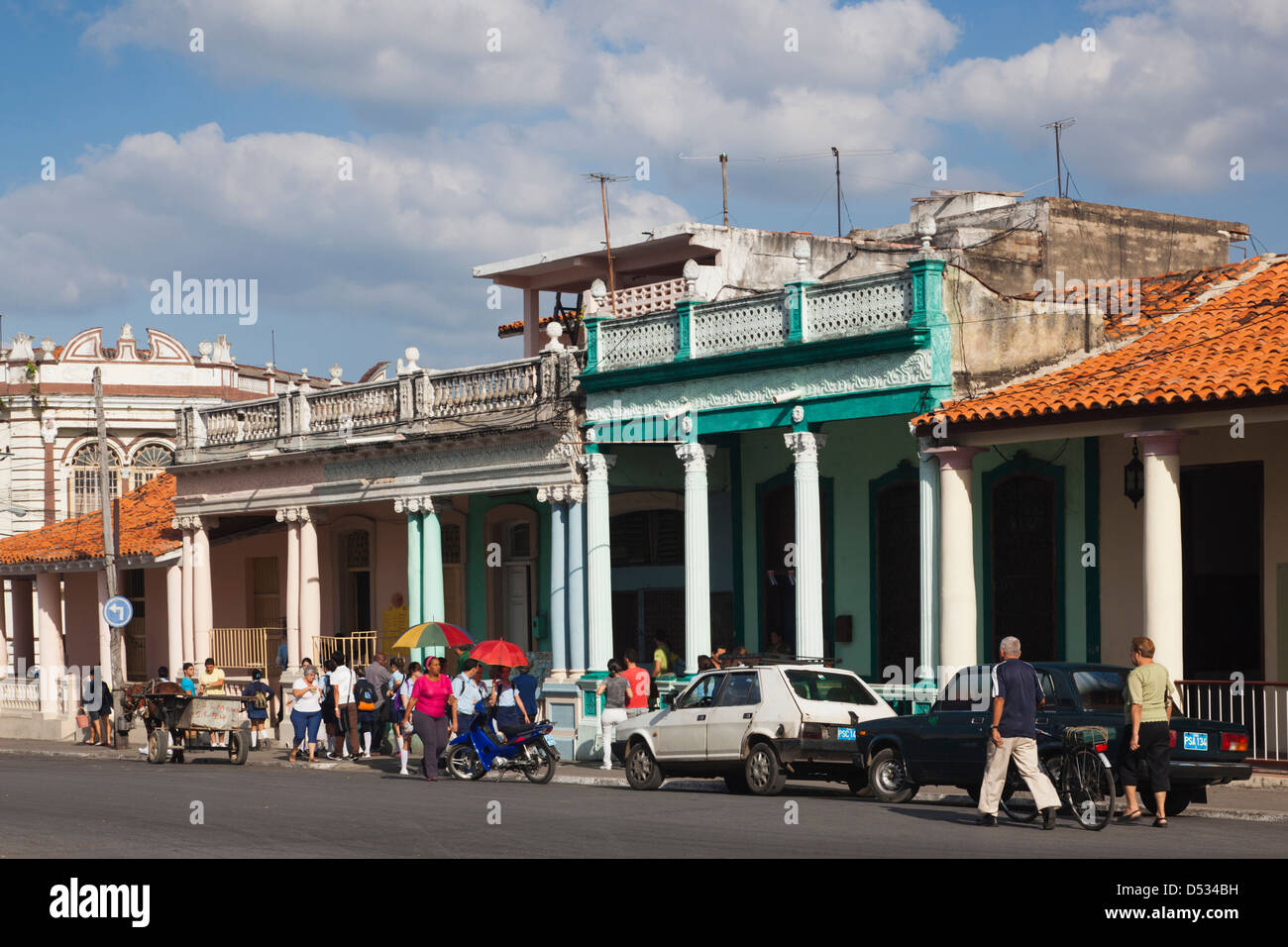 Cuba, Pinar del Rio Province, Pinar del Rio, city buildings Stock Photo