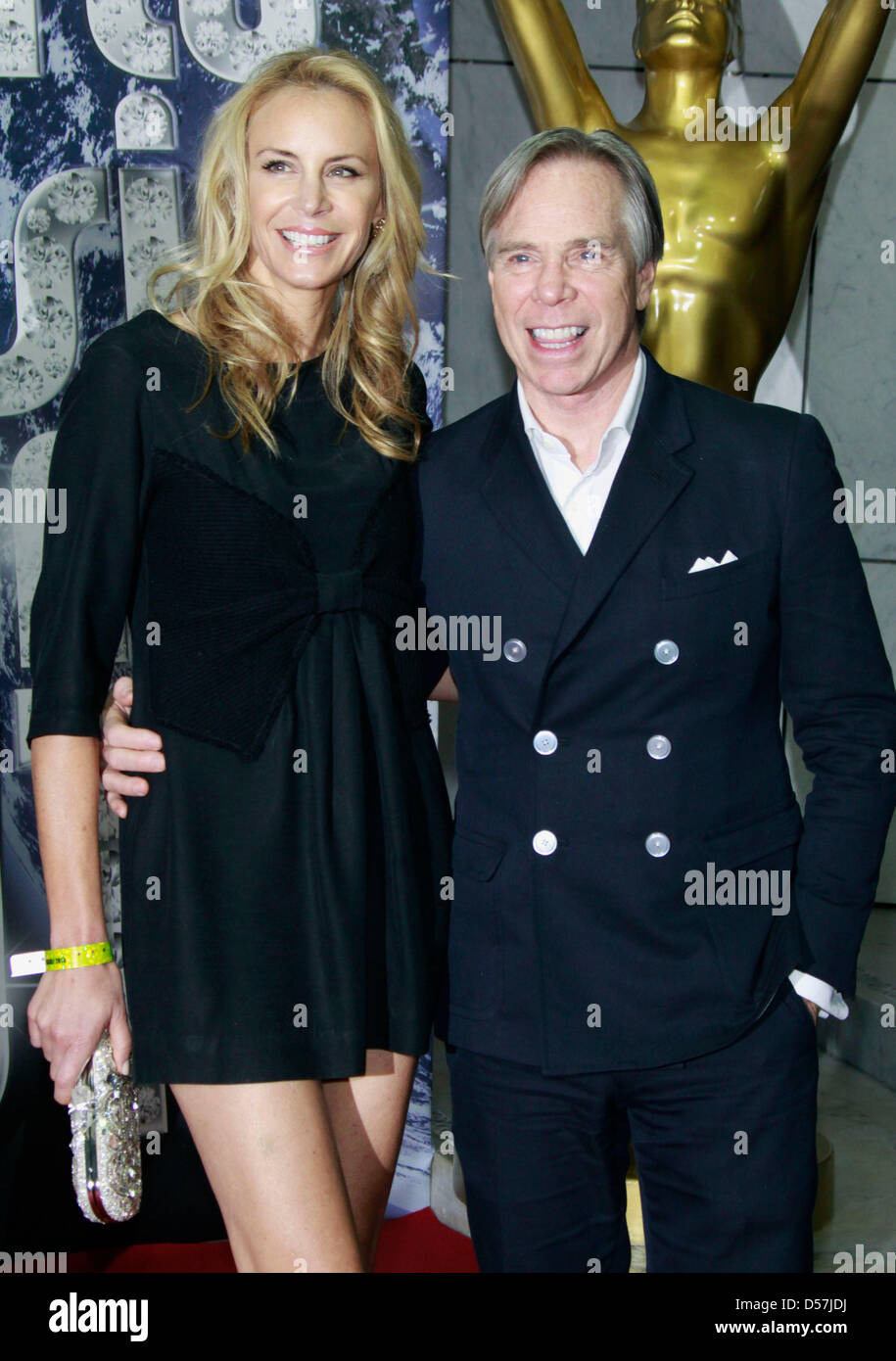 designer tommy hilfiger and his wife dee hilfiger arrive at the world stock photo royalty free. Black Bedroom Furniture Sets. Home Design Ideas