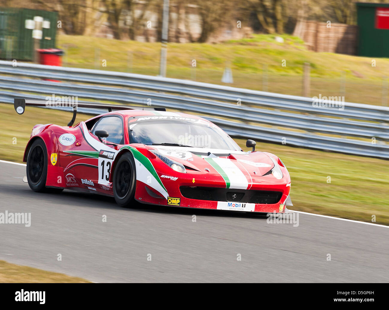 ferrari 458 italia gt3 sports car in british gt championship at stock photo royalty free image. Black Bedroom Furniture Sets. Home Design Ideas