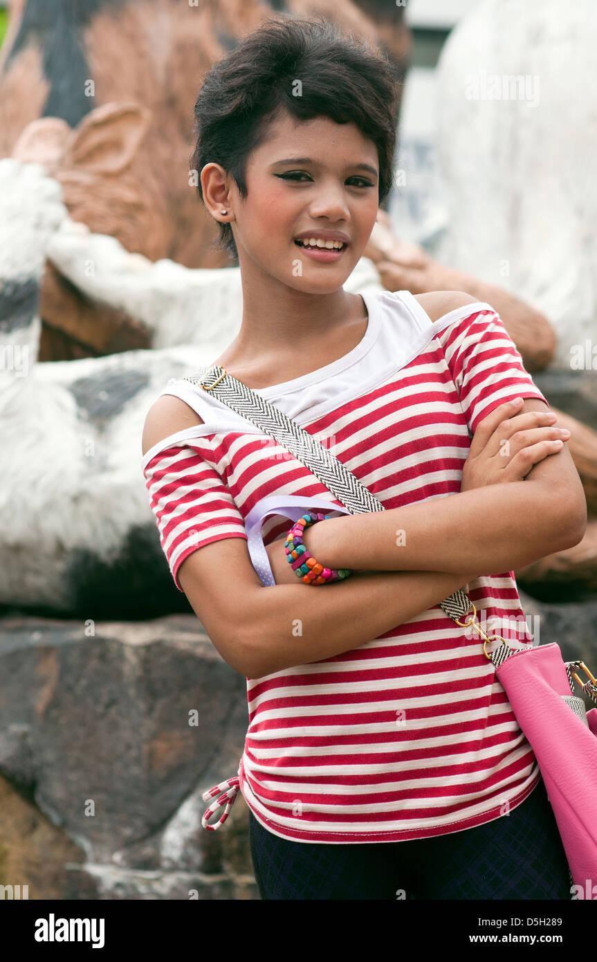 young ladyboy, kuching, malaysia Stock Photo, Royalty Free