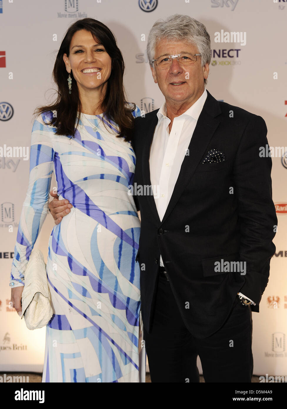 marcel reif and marion kiechle at 39 movie meets media 39 at. Black Bedroom Furniture Sets. Home Design Ideas